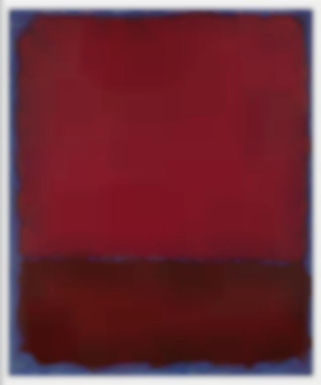 Mark Rothko-Untitled (Red And Burgundy Over Blue)-1969