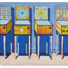 Wayne Thiebaud-Four Pinball Machines (Study)-1962