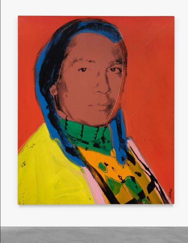 Andy Warhol-The American Indian (Russell Means)-1976