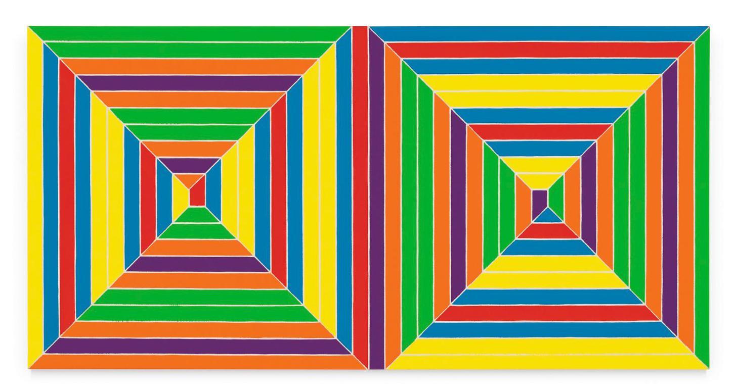 Frank Stella-Double Mitered Maze-1967