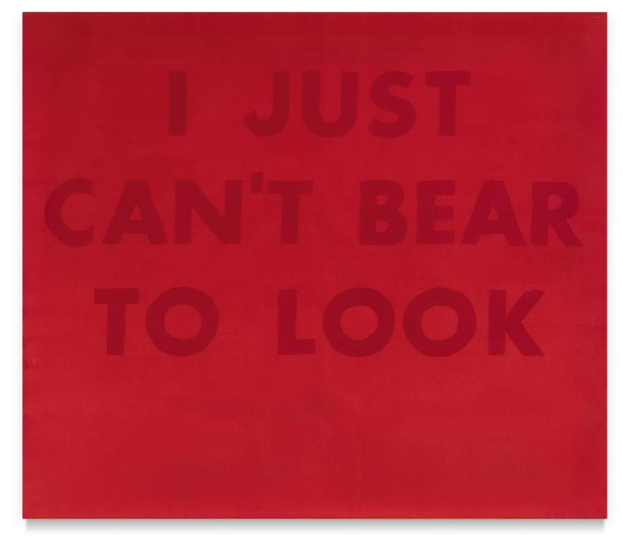 Ed Ruscha-I Just Cant Bear To Look-1973