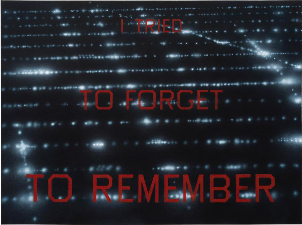 Ed Ruscha-I Tried To Forget To Remember-1986