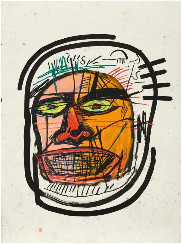 Jean-Michel Basquiat-Untitled (Head)-1982