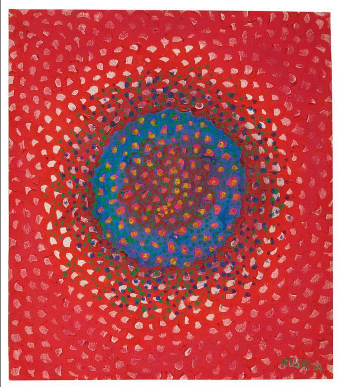 Yayoi Kusama-Sun (No. J.J.)-1957