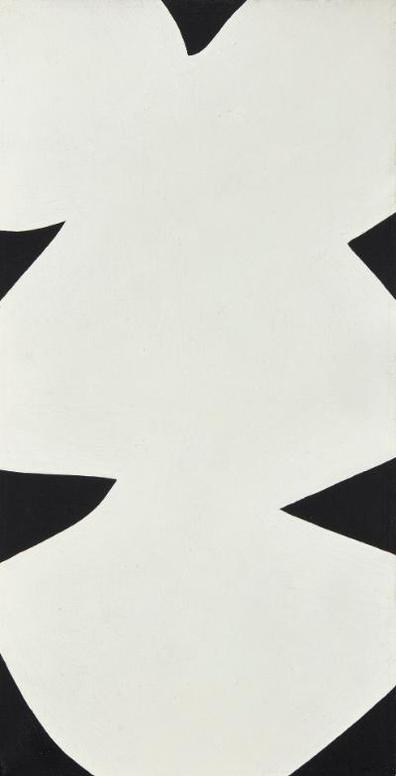 Ellsworth Kelly-White Black (Petit Dolmen)-1958