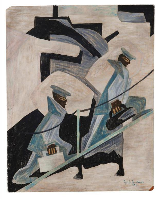 Jacob Lawrence-Untitled (Another Patrol)-1946