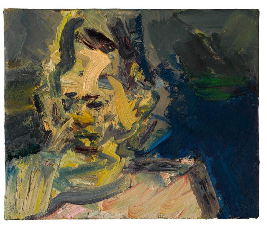 Frank Auerbach-Head Of Catherine Lampert-1989