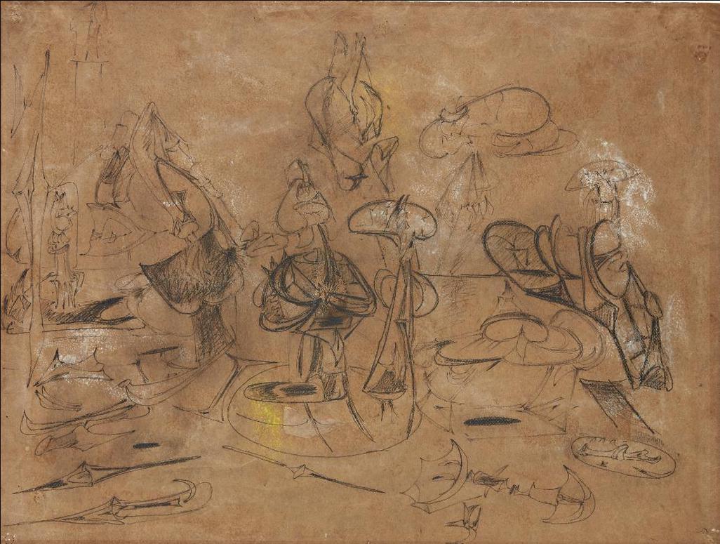 Arshile Gorky-Untitled (Study For Orators Iii)-1947