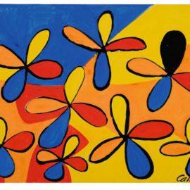 Alexander Calder-One Black Petal-1970