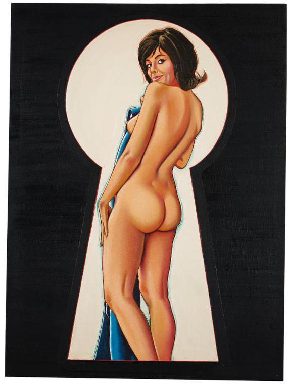 Mel Ramos-Peek-A-Boo, Raven #2-1964