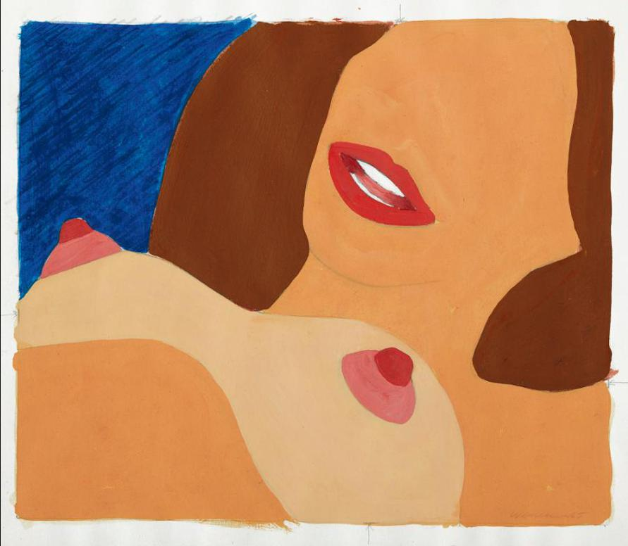 Tom Wesselmann-Drawing For Great American Nude #77-1965