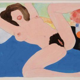 Tom Wesselmann-Spread Leg Nude (Variation To Great American Nude #87)-1975