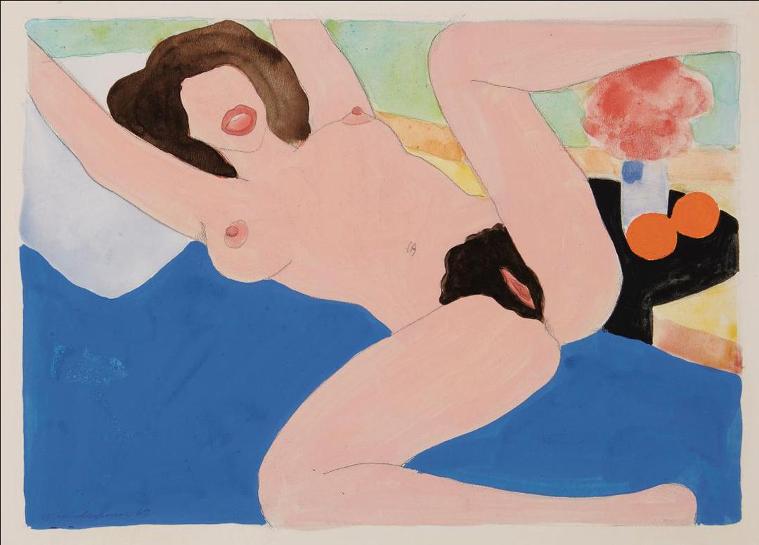 Tom Wesselmann-Spread Leg Nude (Variation To Great American Nude #87)-1975