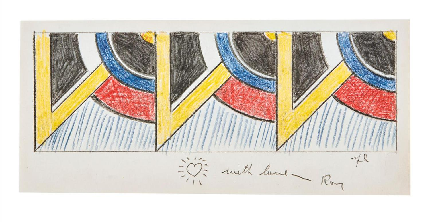Roy Lichtenstein-Drawing For Modern Painting Triptych II-1967