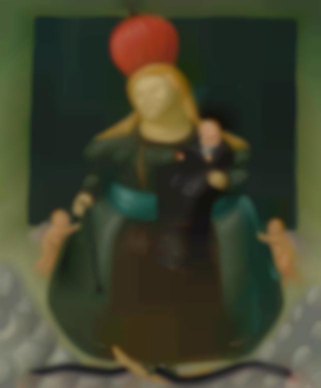 Fernando Botero-Madonna And Child (Nuestra Senora Del Carmen)-1967