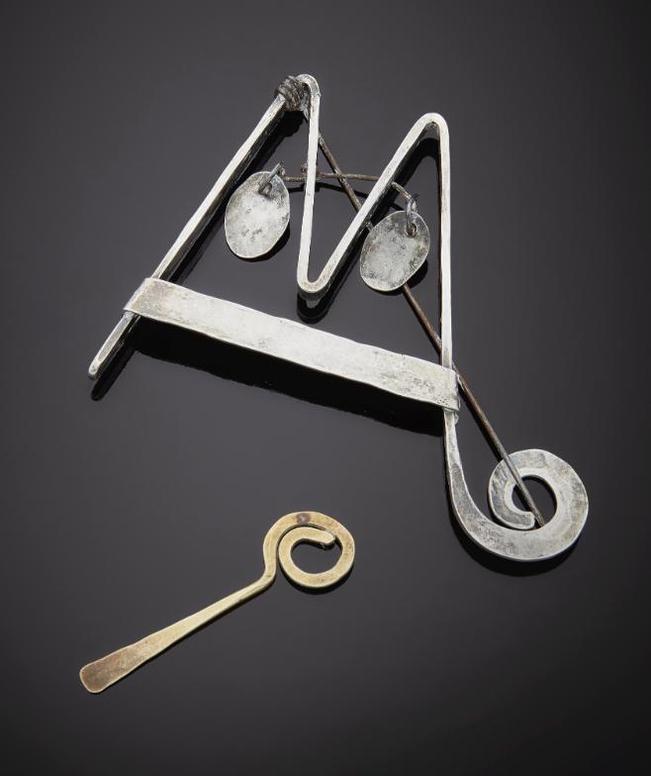 Alexander Calder-Mobile Pin With Key-1964