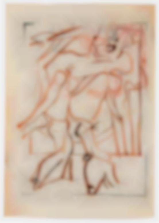 Willem de Kooning-Untitled (Woman With High Heels)-1964