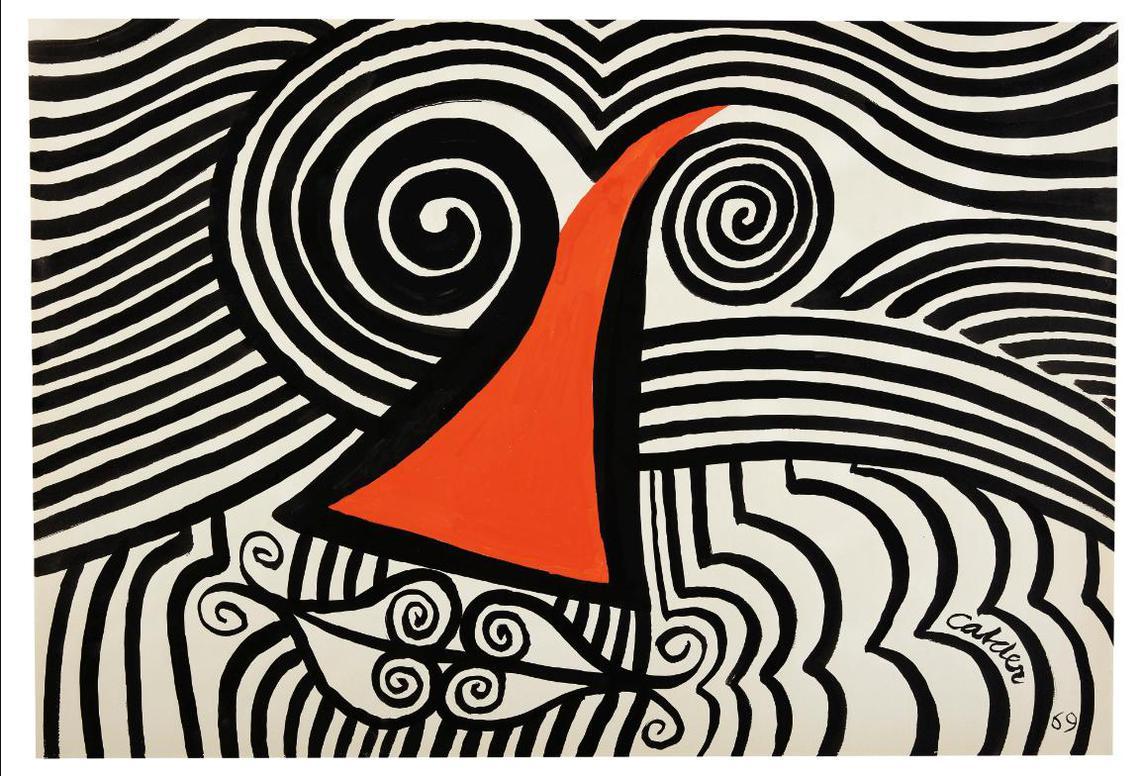 Alexander Calder-Loopy Face-1969