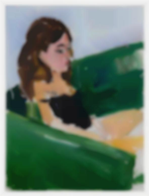 Henry Taylor-Untitled (Girl On Green Couch)-2017