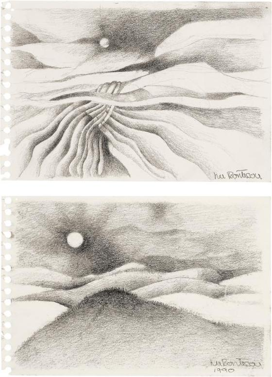 Lee Bontecou-Untitled [2 Works]-1990