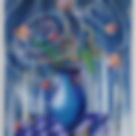 Kenny Scharf-Flores Flores Flores-2019