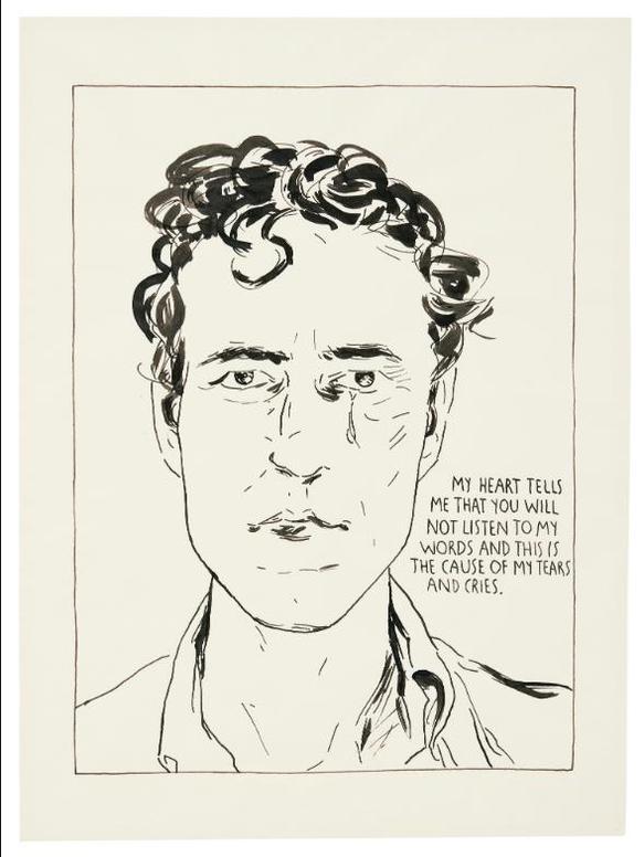 Raymond Pettibon-No Title (My Heart Tells...)-1990