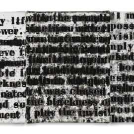 Glenn Ligon-Prologue Series #1-1991