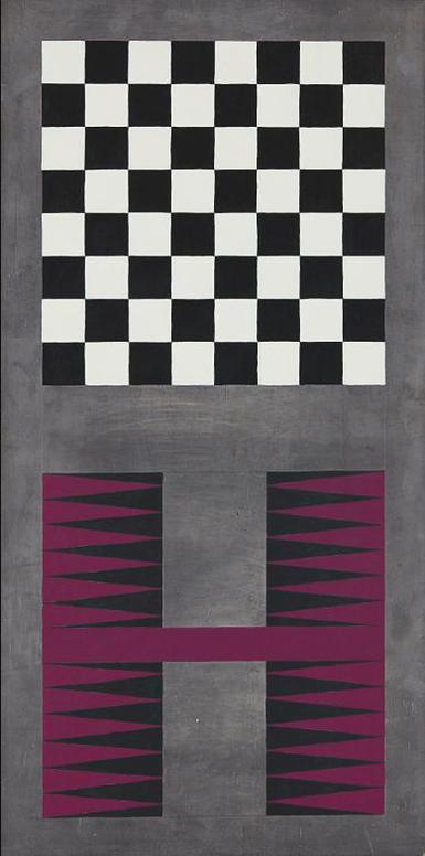 Sherrie Levine-Untitled (Lead Checks/Lead Chevron 11)-1988