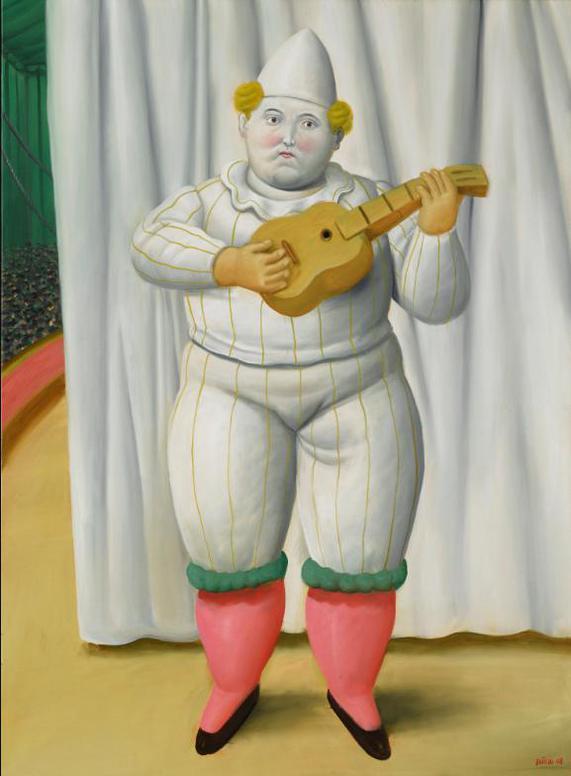 Fernando Botero-White Pierrot-2008