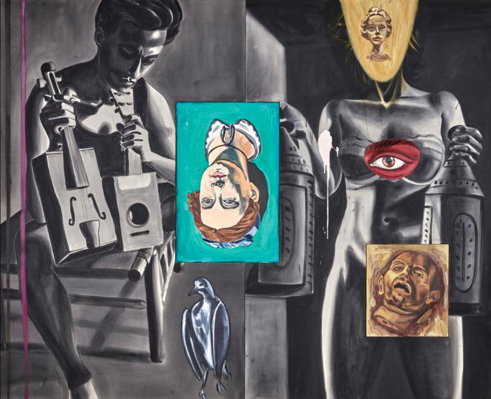David Salle-Melody Bubbles And The Critique Of Pure Reason-1988