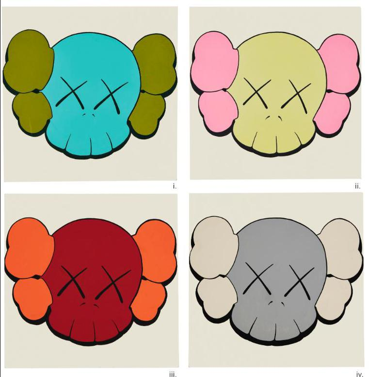 KAWS-Untitled [4 Works]-1999
