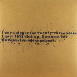 Glenn Ligon-No Room (Gold) #50-2008