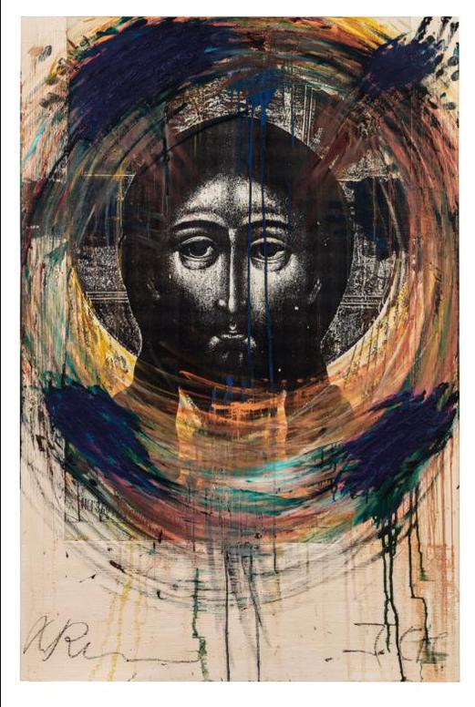 Arnulf Rainer-Christ #21-1987
