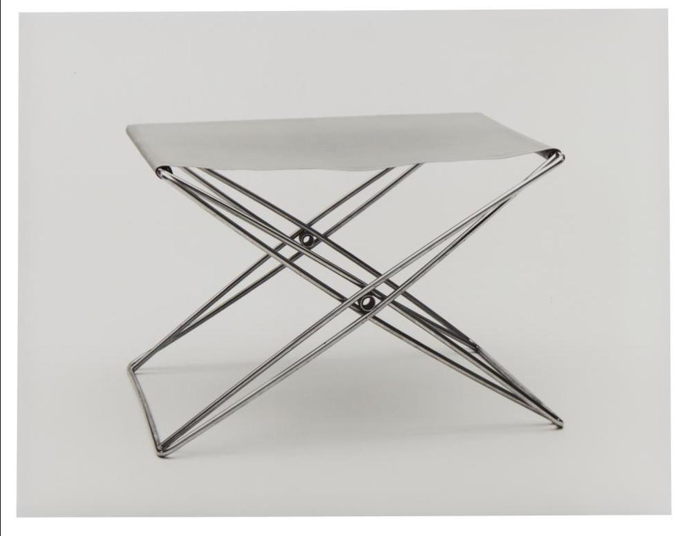 Christopher Williams-Jorgen Gammelgaard Folding Stool Of Steel With Yellow Nylon Seat, 1970 L: 57 Cm, H: 40 Cm, W: 46 Cm Producer: Strutture Dinterni Of Bologna, Italy, Under License From Design Forum A/S, Denmark Purchased By Det Danske Kunstindustrimuseum 1970 Mus. No. 63/1970 Douglas M. Parker Studio Michael Asher, July 18 - October 16, 1976, Ambiente Arte, Dal Futurismo Ad Oggi, Venice Biennale, Venice, Italy, In Benjamin H.D. Buchloh (Ed.), Michael Asher, Writings 1973-1983 On Works 1969-1979 (Los Angeles And Halifax: The Museum Of Contemporary Art And Press Of The Nova Scotia College Of Art And Design, 1983): 138-145. Los Angeles, California October 12, 1998 (No. 8), 1998-1998