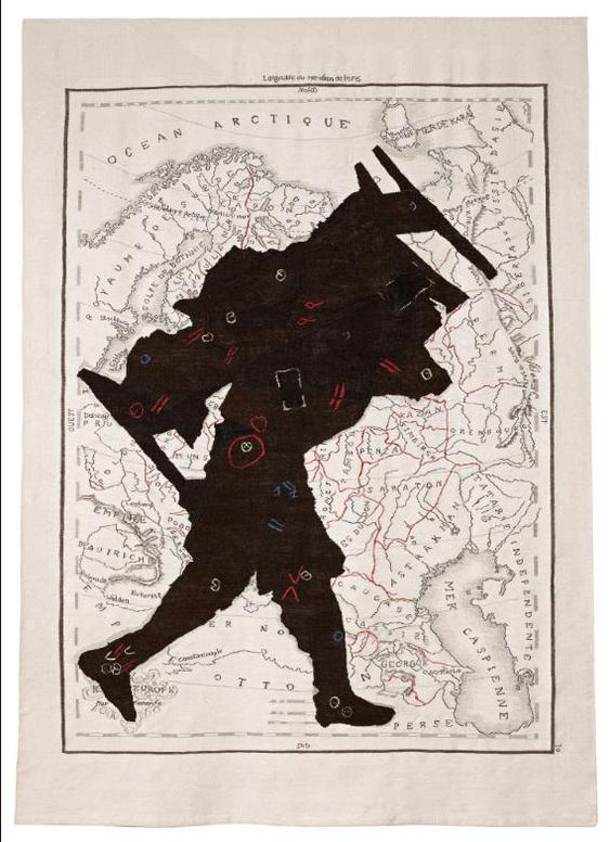 William Kentridge-Porter Series: Russie Deurope (Man With Bed On Back)-2006