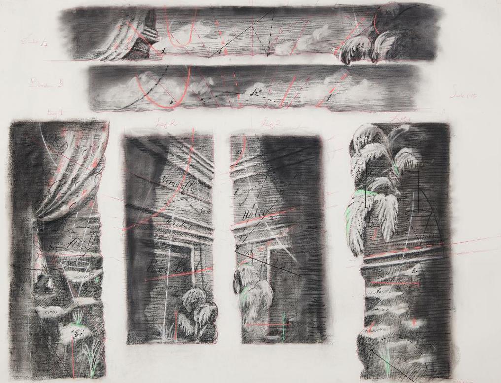 William Kentridge-Drawing From Preparing The Flute-2005