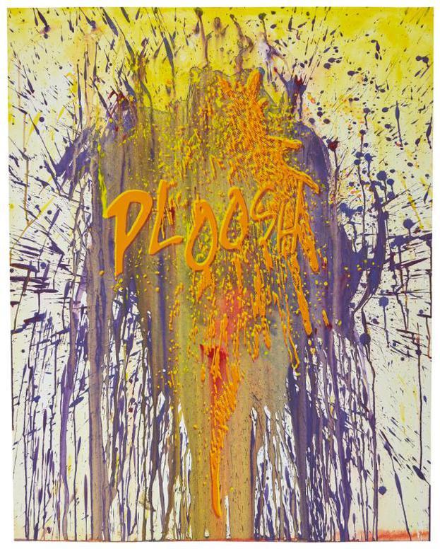 Christian Marclay-Orange And Purple Ploosh-2014