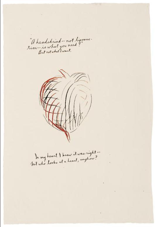 Raymond Pettibon-No Title (A Headshrink—Not...)-1993
