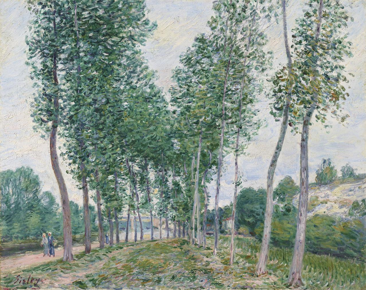 Alfred Sisley-Lallee Des Peupliers Au Bord Du Loing-1892