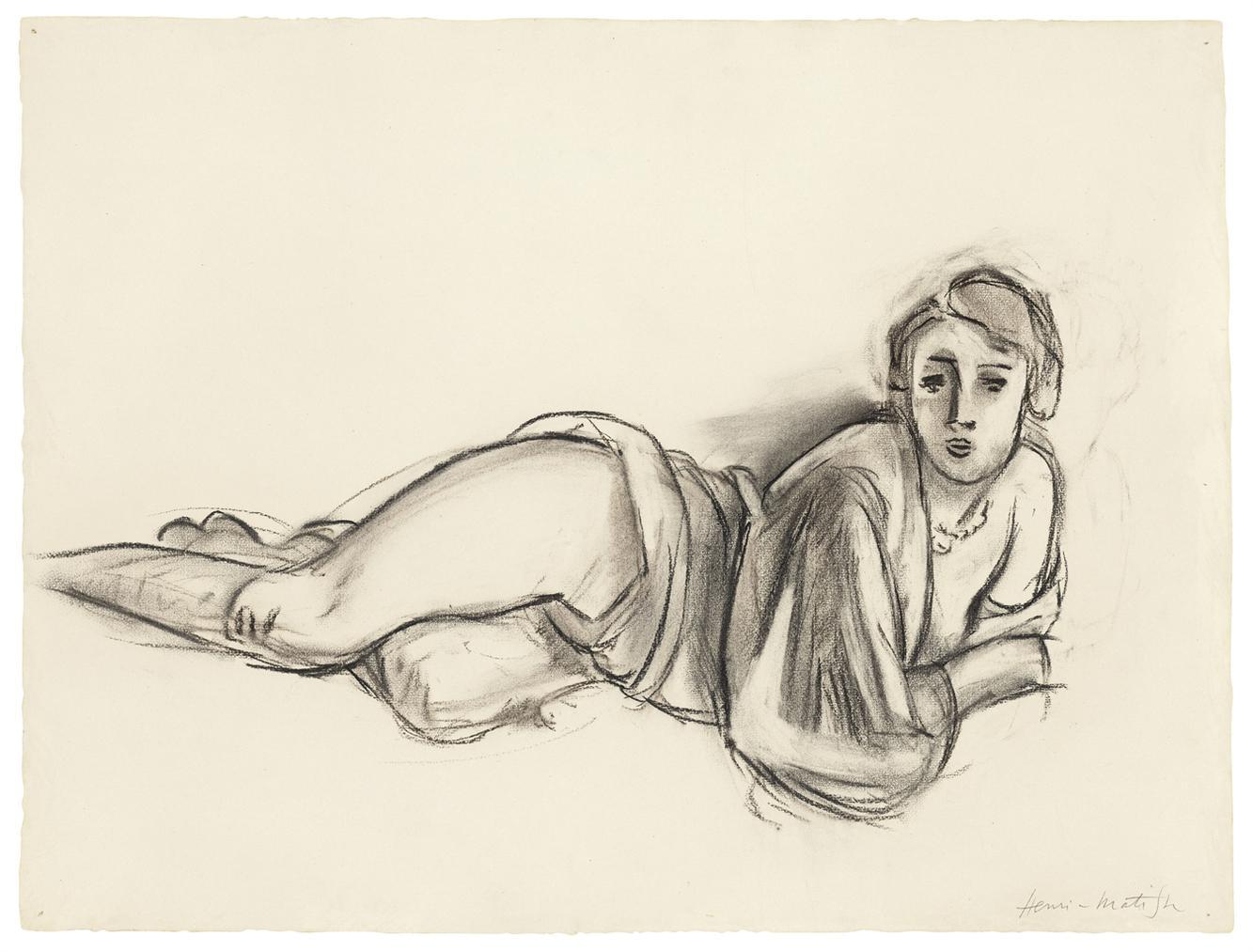 Henri Matisse-Femme Nue Couchee-1924
