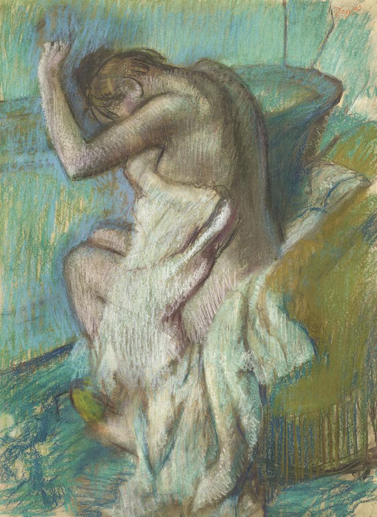 Edgar Degas-Femme Sessuyant-1899