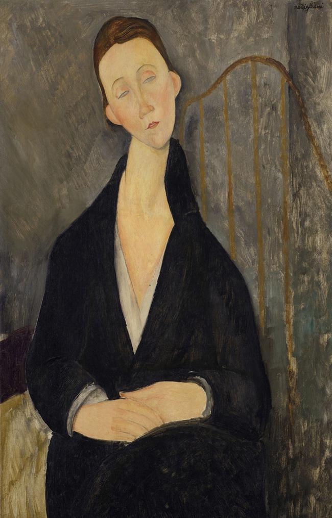 Amedeo Modigliani-Lunia Czechowska (A La Robe Noire)-1919
