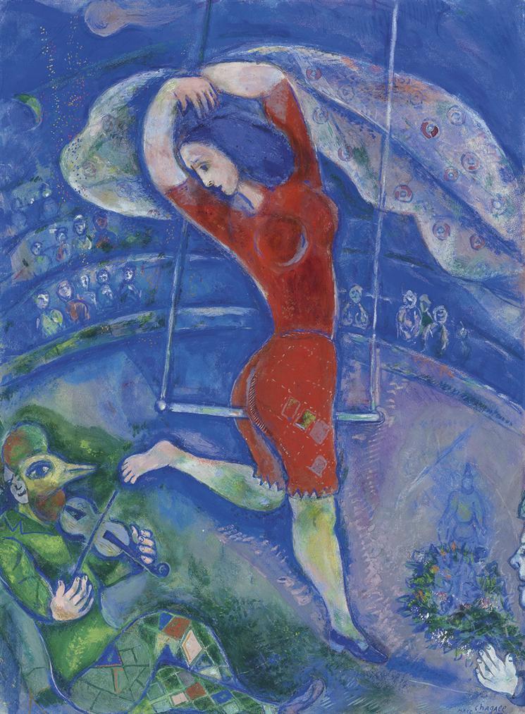 Marc Chagall-Lacrobate Ou Le Trapeze-1938