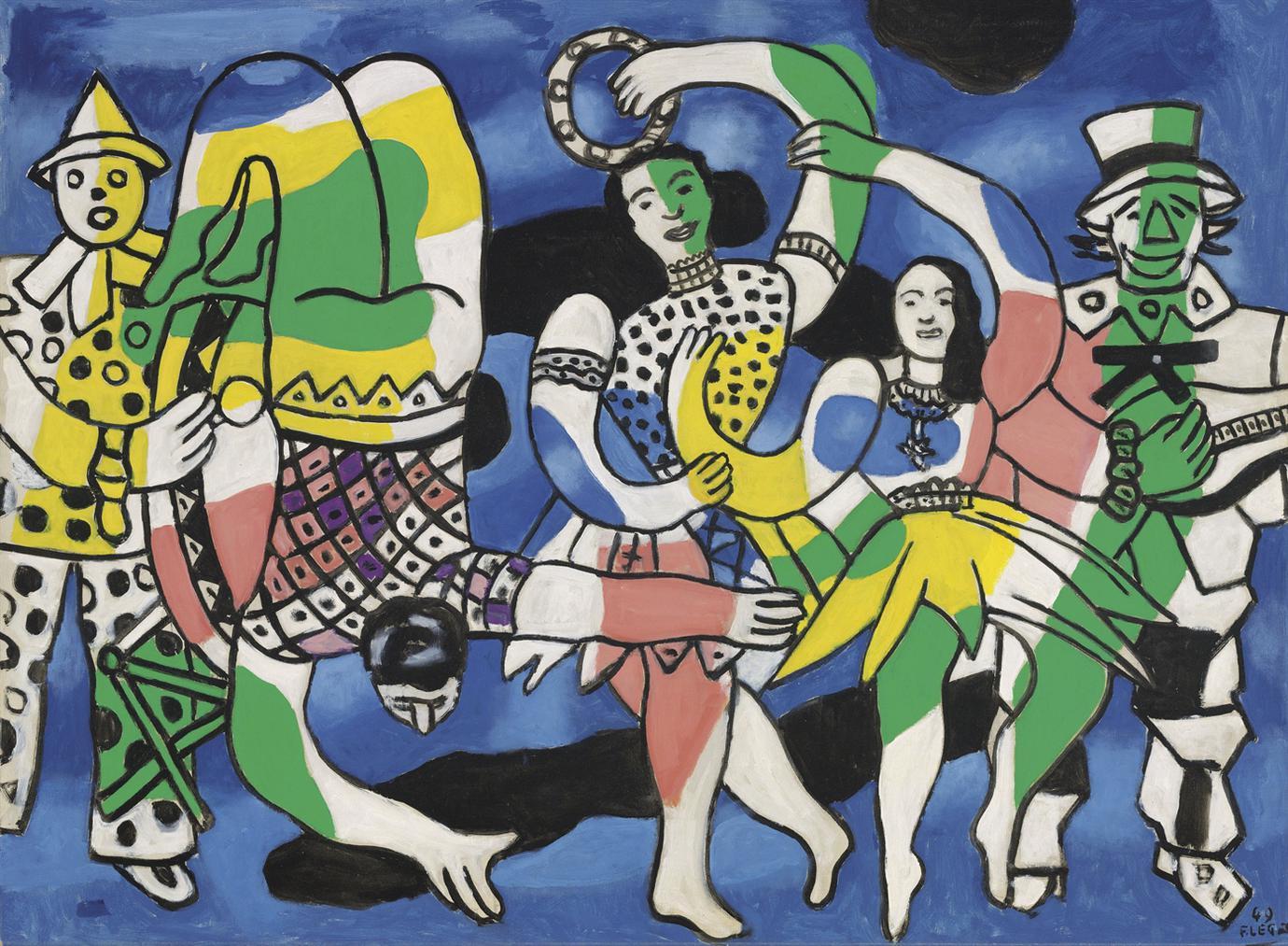 Fernand Leger-La Grande Parade (Le Cirque)-1949