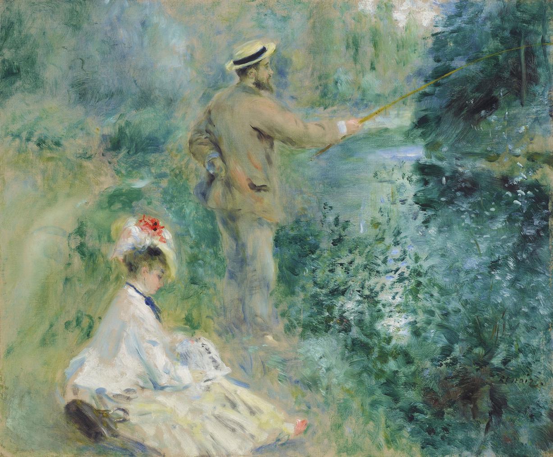 Pierre-Auguste Renoir-Le Pecheur A La Ligne-1874