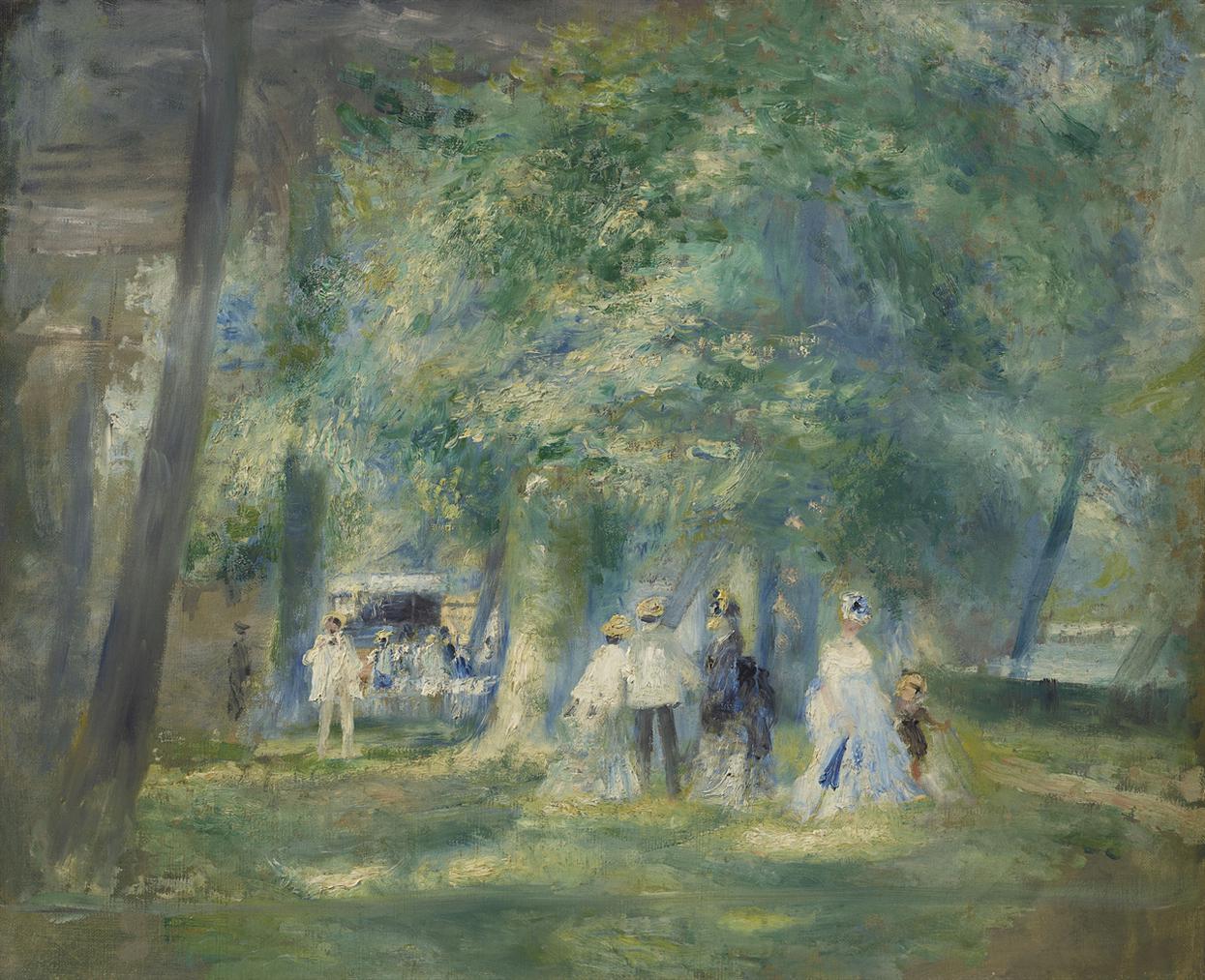 Pierre-Auguste Renoir-La Fete A Saint-Cloud-1871