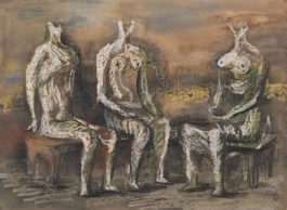 Henry Moore-Three Seated Figures-1940