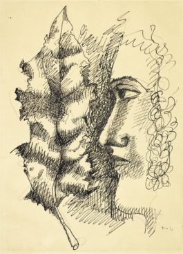 Fernand Leger-Femme A La Feuille-1931