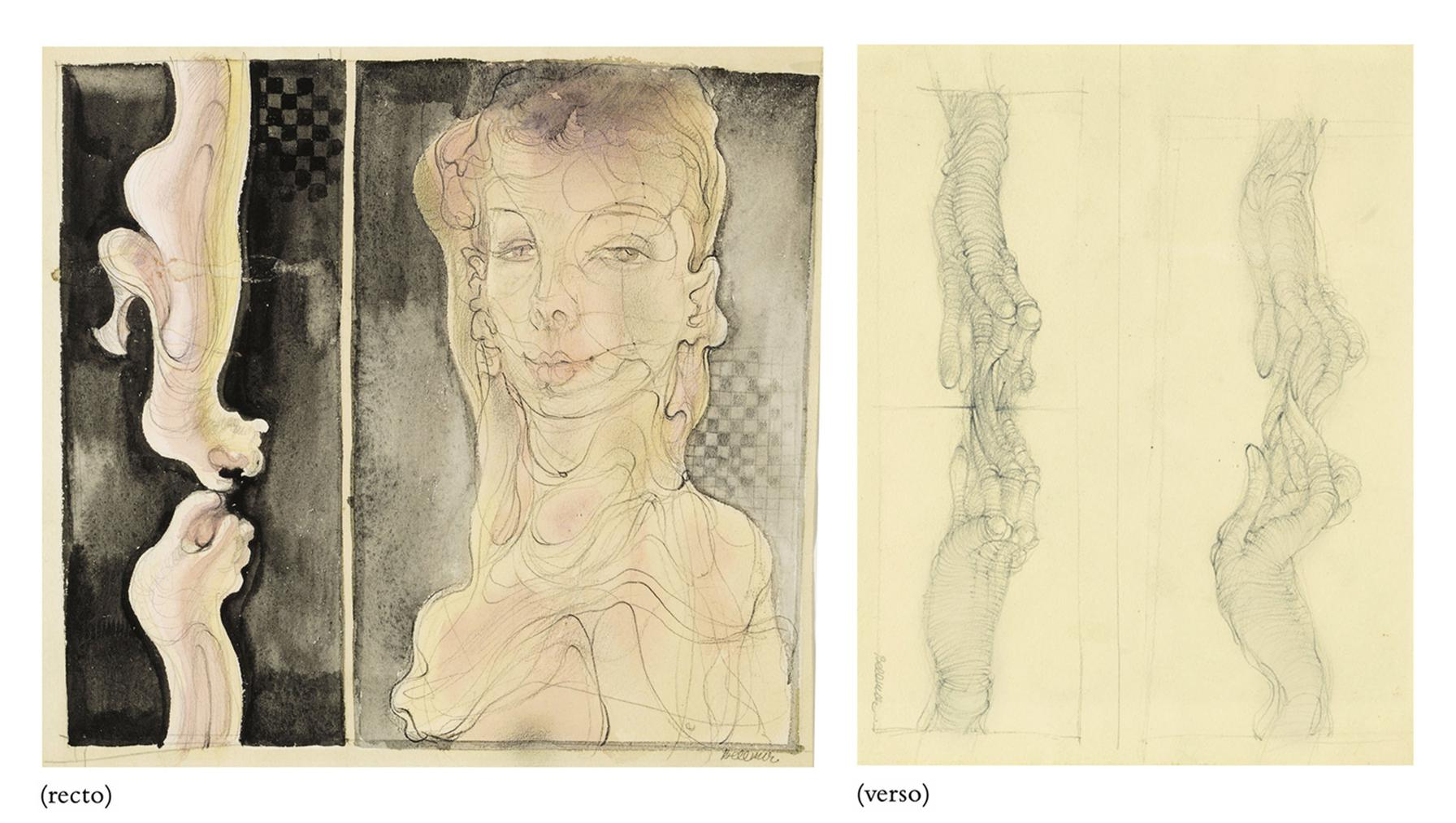 Hans Bellmer-Sans Titre (Recto And Verso)-1945