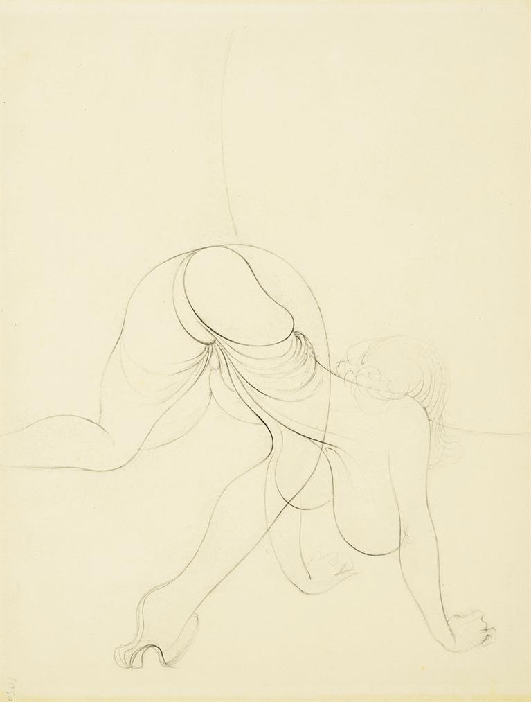 Hans Bellmer-Sans Titre (Recto And Verso)-1955